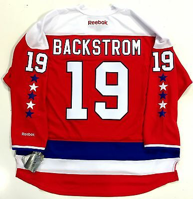 new products bd0e7 d8c33 NICKLAS BACKSTROM WASHINGTON CAPITALS REEBOK PREMIER HOME THIRD JERSEY NEW  | eBay