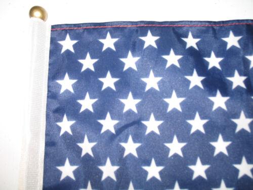 "12x18 12/""x18/"" Wholesale Lot of 3 USA American Stick Flag wood ball point staff"