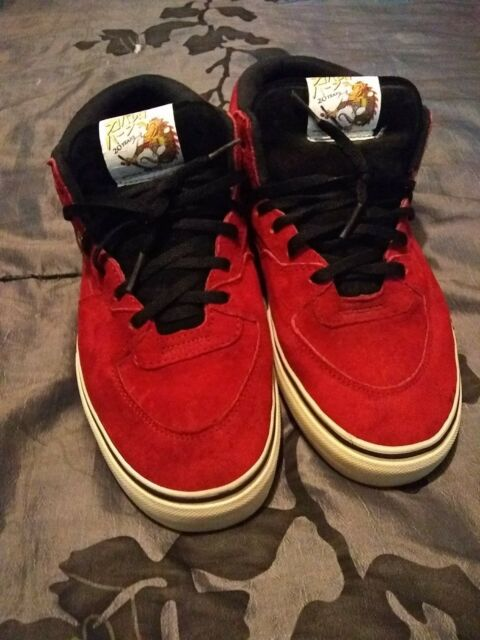 4ed493d0d8 VANS RED SEUDE HALF CAB PRO STEVE CABALLERO 20TH ANNIVERSARY YOD DRAGON MENS  7.5