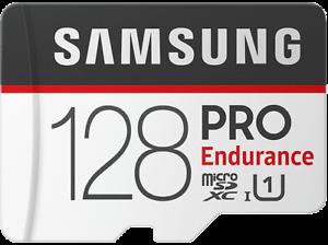 Tarjeta Micro SD 128 GB Samsung Pro Endurance, 100 MB/s, Full HD  o 4K