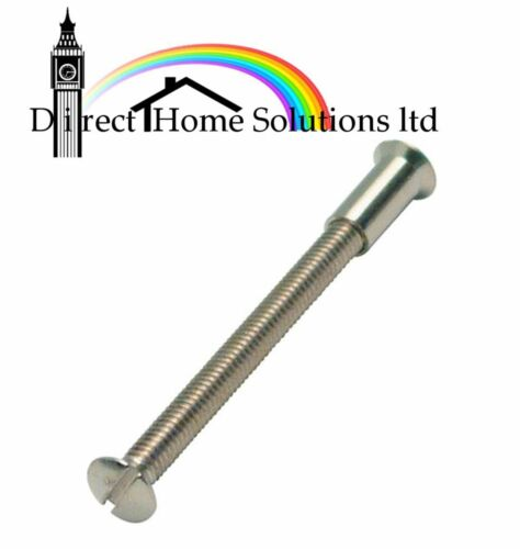 20 x M4 SCREW CONNECTING BOLTS SLEEVS FOR DOOR HANDLE ROSES AND ESCUTCHEONS 50mm