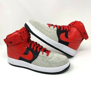 the best attitude 939c2 bbd4a Details about Nike Air Force 1 High Top LV8 Wolf Grey Red Black  (806403-007) - Men's Size 12