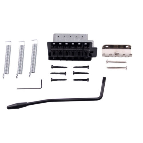 Black Strat-Style Tremolo Bridge Set for Strat Style Electric Guitar