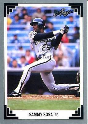 1991 Leaf Sammy Sosa Chicago White Sox 321 Baseball Card For Sale Online Ebay