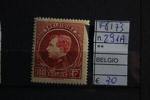 FRANCOBOLLI-BELGIO-NUOVI-N-291A-F8173