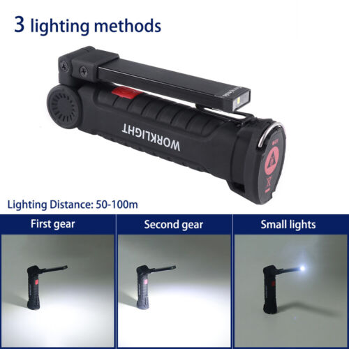 Rechargeable COB LED Magnetic Work Light Inspection Torch Lamp Cordess 5W New