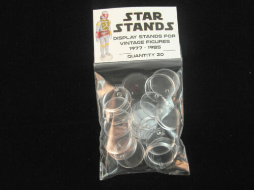 STAR WARS ACTION FIGURE DISPLAY STAND FOR VINTAGE FIGURES CLEAR X 50 T1c