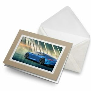 Greetings-Card-Biege-Blue-Concept-Sports-Car-Art-14465