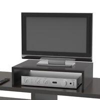 Tv Computer Monitor Riser Stand Black Storage Space Table Desk Organizer Holder