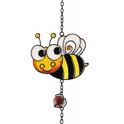 Handcrafted Yellow Sparkle Bee Wind Chime / Suncatcher / Musical Mobile * Gift