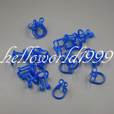 100 Pc Dental Cotton Roll Holder Disposable Clip For Teeth Isolator Clinic Blue
