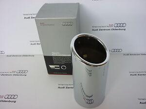 original-Audi-embellecedor-tubo-de-escape-deflector-A4-modelo-8w-b9-CROMO