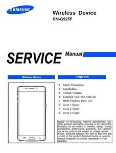 samsung galaxy s6 edge sm g925f service manual repair guide ebay rh ebay com s6 edge service manual edge service manual
