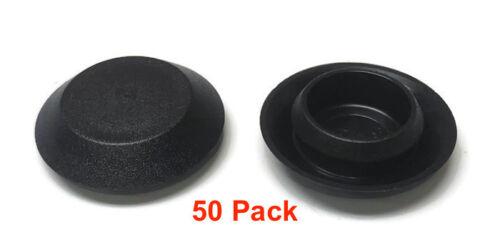 "Sheet Metal Auto Body Panel 50 9//16/"" Inch Black Plastic FLUSH MOUNT HOLE PLUG"