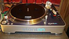Stanton T50 DJ Turntable /Cartridge /Shure M25C needle - RCA Cables/PDF Manual
