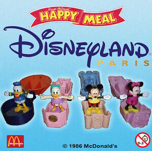 Ancien Jouet Mcdonald's / 1996 Disneyland Paris / Serie 3 Differents En Sachet Gqzqtcev-07164239-637525038