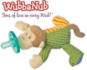 WubbaNub-Infant-Baby-Soothie-Pacifier-Mango-Monkey-Toy-Binkie-Stuffed-Animal