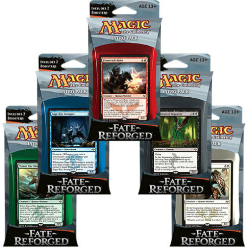 Magic the gathering FATE REFORGED INTRO PACK SET OF 5 DECKS SEALED!!