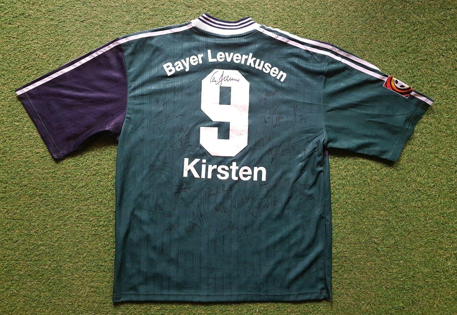 Bayer Leverkusen Maillot XL 1996 1997 Camiseta Adidas Aspirina Kirsten