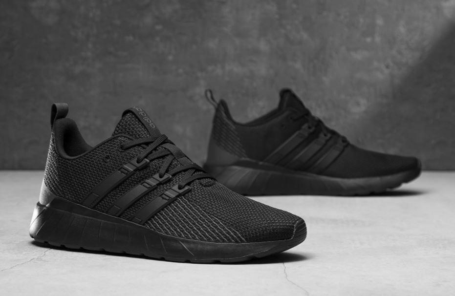 Adidas questar Flow f36255 caballeros zapatillas deporte cortos negro negro cómodo