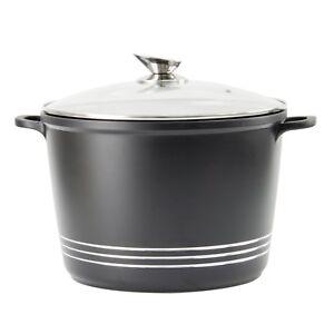 Cocina-de-induccion-Die-Cast-Antiadherente-Profundo-Guiso-Cazuela-Olla-Tapa-de-Cristal-SH