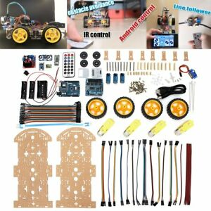 4WD-Robot-Car-Kit-bluetooth-IR-Obstacle-Avoid-Line-Follow-L298N-for-Arduino