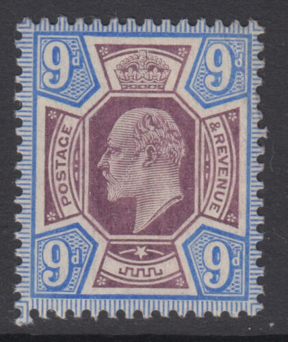 SG 251a 9d Slate Purple & Ultramarine OCP M40 in average mounted mint .