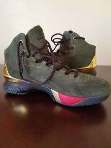 398b853682a7 Under Armour Steph Curry SC 1 Lux Downtown Green Metallic Gold 10.5 ...