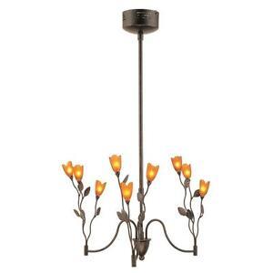 Bel Air Lighting 9 Light Dark Bronze