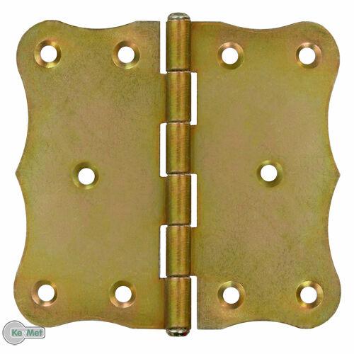 20 Bisagras de Puerta Filo Retro 104 x 2mm Amarillo Galvanizado