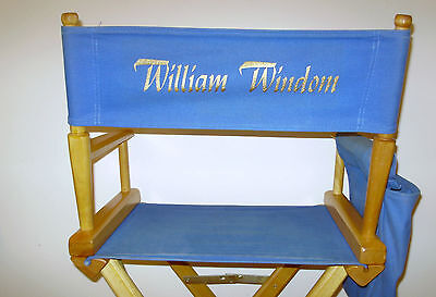 WILLIAM WINDOM COLLECTION ~ MURDER, SHE WROTE 12th SEASON Pers. SET CHAIR NM ~