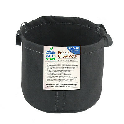 Earth Start Fabric Grow Pots Bags 1 2 3 5 7 10 Gallon Grow Smart Dirt Plant Bulk
