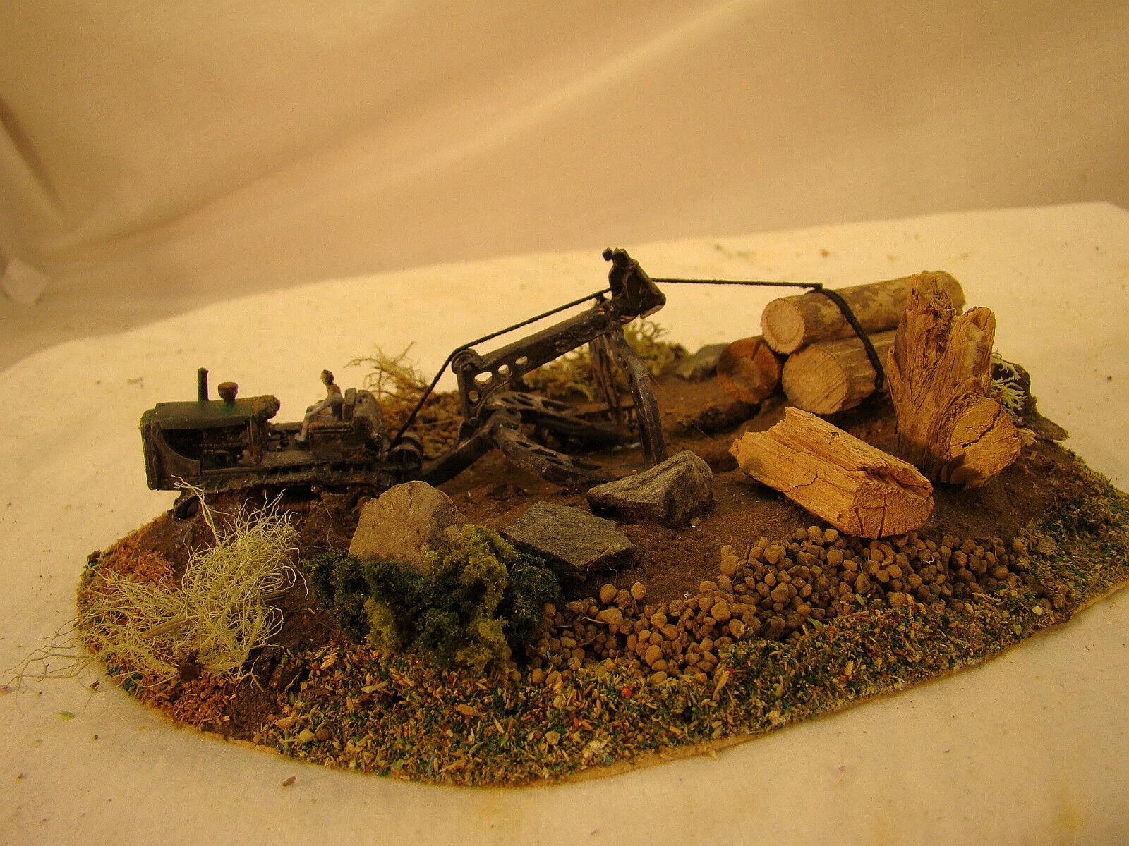Registro histórico Bulldozer Diorama-Personalizado Desgastado por el tiempo-Lote 6-Escala Ho