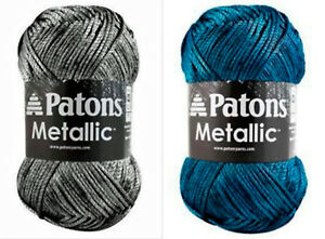 Patons-Metallic-Yarn-Shimmer-Fabulous-Drape-85g-Color-Choice-Loom-Knit-Crochet