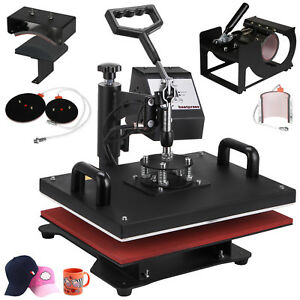 6-in-1-Heat-Press-Machine-For-T-Shirts-12-034-x15-034-Combo-Kit-Sublimation-Swing-away