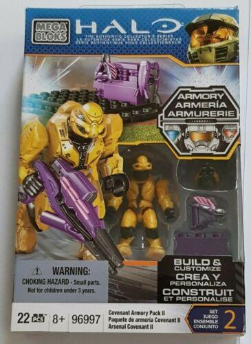 Mega Bloks Halo mini figures Covenant Armoury Pack 2 and Covenant Armoury 1
