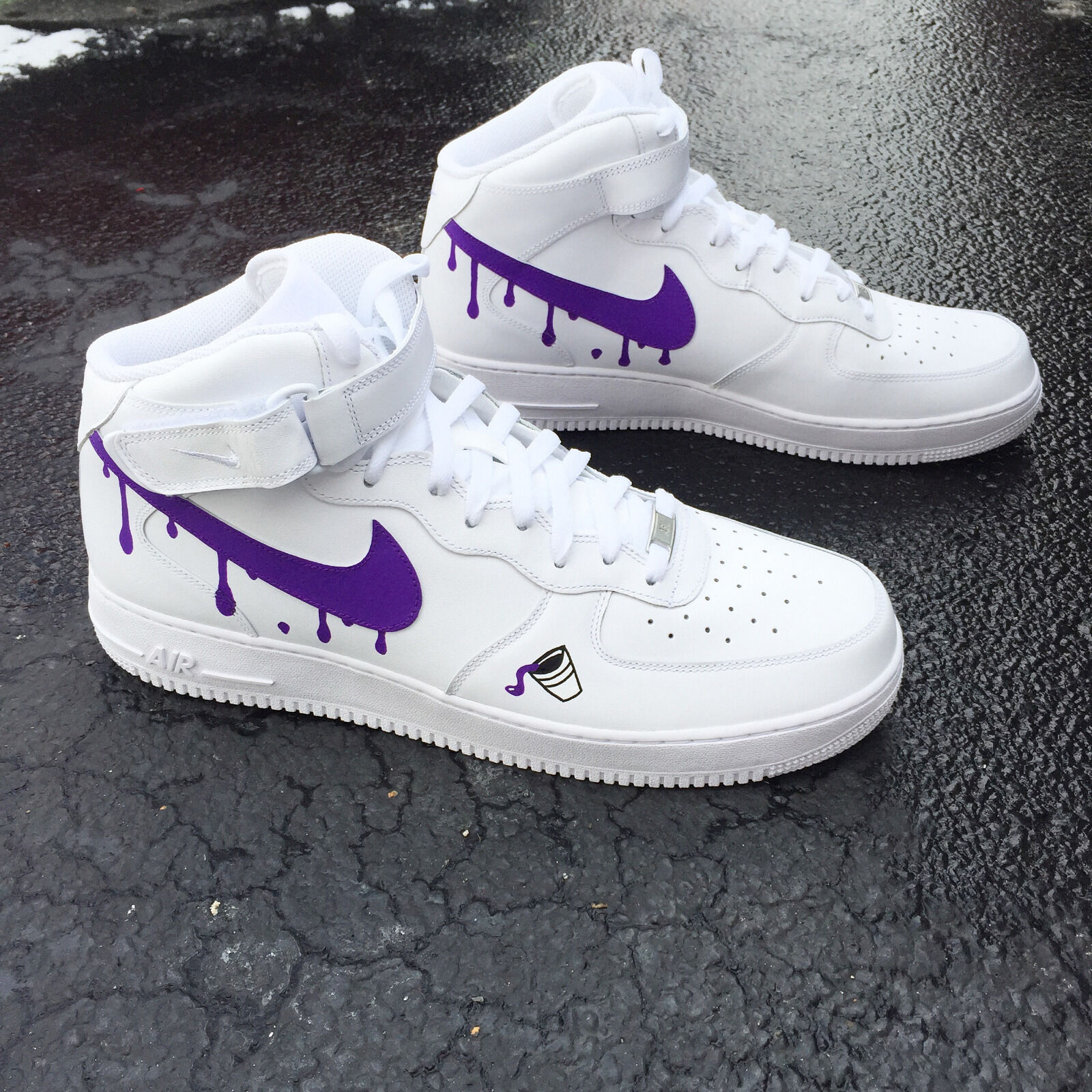 40f2472c3bd Custom Nike Air Force 1 White Size 6 Purple Reign Tour DS2 lovely ...