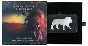2021 $2 Solomon Islands Animals of Africa LION 1 oz Silver Coin By Pamp Suisse