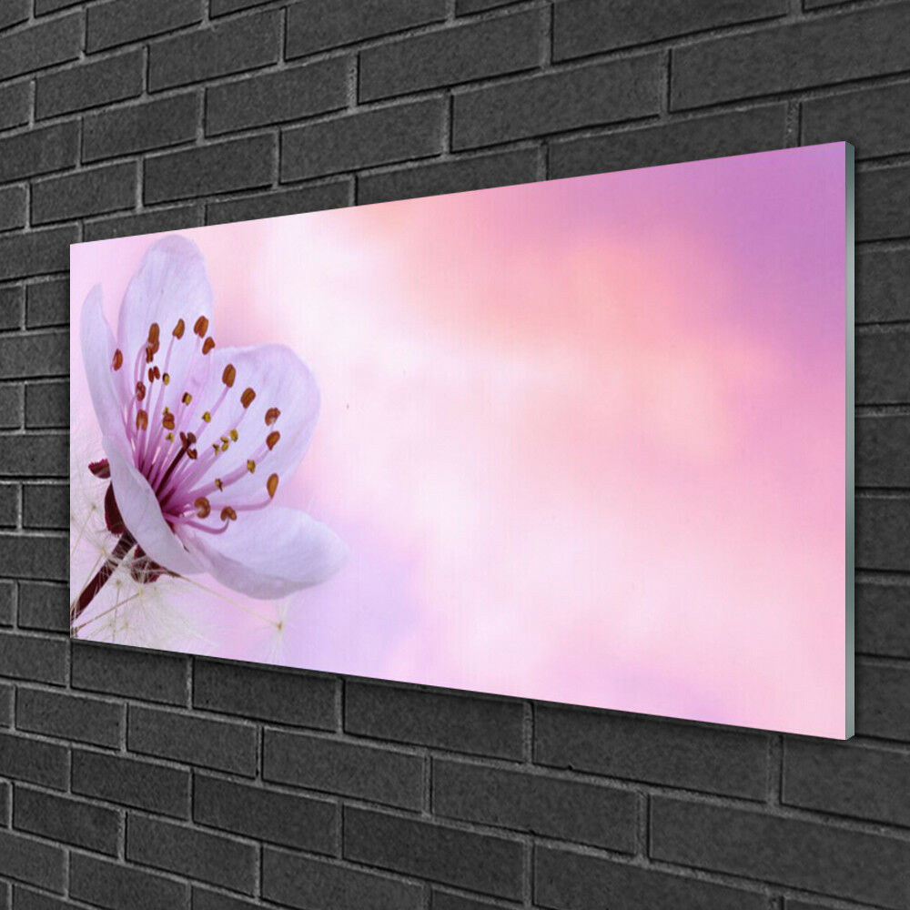 Wall art Print on Plexiglas® Acrylic 100x50 Flower Floral