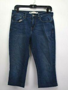 Levi-039-s-Women-039-s-Size-4-Style-515-Boot-Cut-Capri-Length-Denim-Blue-Jeans-Dark-Wash