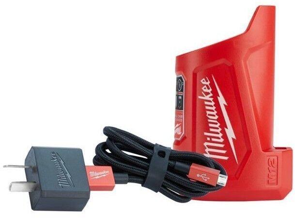 Milwaukee M12 COMPACT CHARGER & POWER SOURCE M12TC0 Wall Plug USA Brand