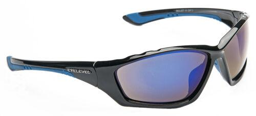 Case Mens Wrap Around Black Mirror Sports Mirrored Yellow Blue Ski Sunglasses