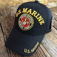 OFFICIALLY LICENSED U.S MARINE CORPS USMC VETERAN VET CAP HAT SHIPS FREE BLACK-W