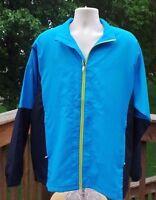 Page & Tuttle Men's Colorblock Full-zip Long Sleeve Windshirt Sz L
