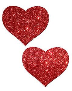 2 X Heart Nipple Pasties Red Pasty Sticker Romantic Love Gift