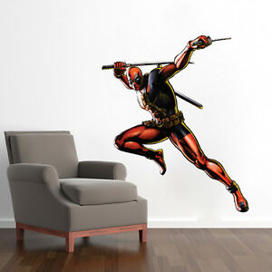 Image is loading Deadpool-Wall-Decals-Superhero-Wall-Designs-Cool-Marvel-  sc 1 st  eBay & Deadpool Wall Decals Superhero Wall Designs Cool Marvel Deadpool ...