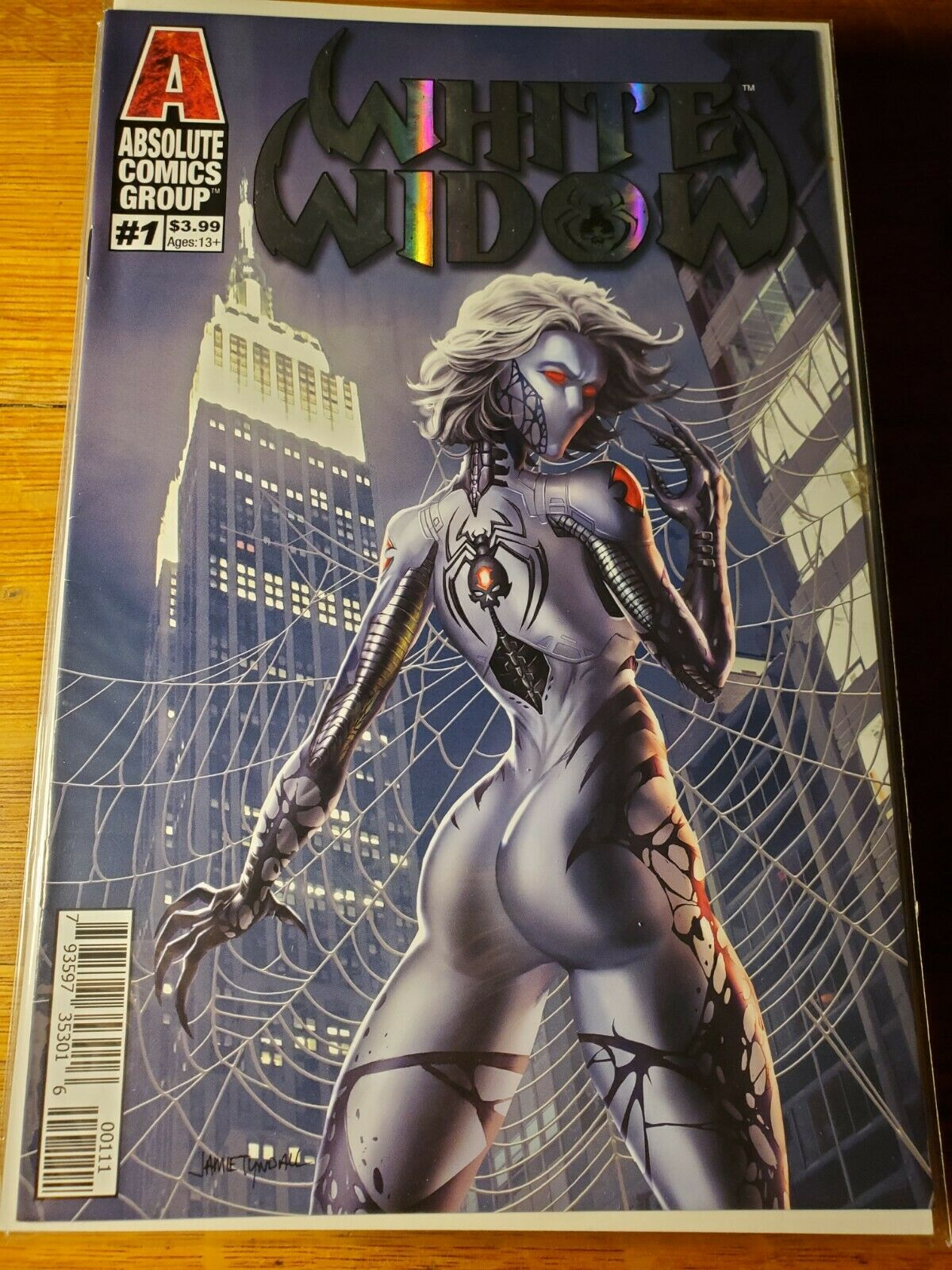 NM WHITE WIDOW 4 BLOODLINES FOIL VARIANT RANDY GREEN COVER EDITION !!