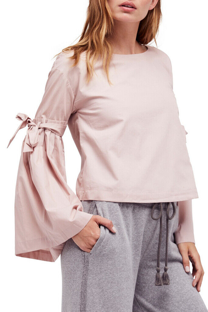Free People Womens So Obviously Yours OB672226 Top Ballet Pink Size XS