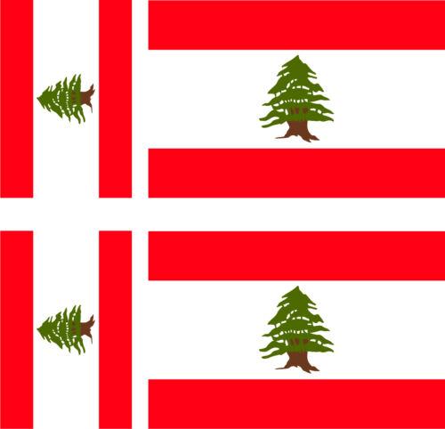 drapeau LIBAN + 3ex 100x6mm 60x36mm 6 Stickers autocollant Vinyl 3ex