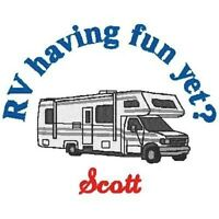 Personalized Rv Camper Motor Home Camping Mens Or Womens Adult T Shirt